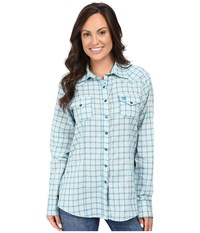 Cinch Cotton Plain Weave Fit Teal Women's Clothing Blue