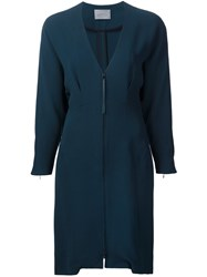 Maiyet Fitted Zip Dress Green