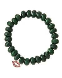 Sydney Evan Design Your Own Bracelet Made To Order Dark Green Jade