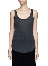 Crush Collection Fine Cashmere Tank Top Grey