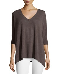 Neiman Marcus Cashmere V Neck 3 4 Sleeve Sweater Beach House