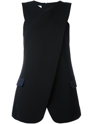 Paul Smith Crossover Sleeveless Blouse Black