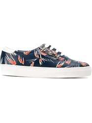 Toga Feather Print Sneakers Blue