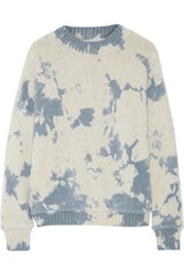 The Elder Statesman Tie Dyed Cashmere Sweater Blue