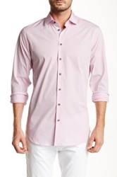 14Th And Union Long Sleeve Trim Fit Solid Dress Shirt Pink