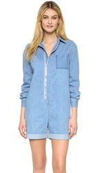 Stella Mccartney Denim Romper Pale Blue
