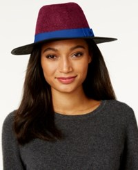 Inc International Concepts Colorblock Panama Hat Only At Macy's Navy