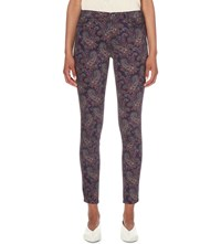 J Brand 620 Super Skinny Mid Rise Jeans Eclipse Paisley