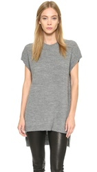 Pure Dkny Tunic With Side Slits Heather Grey
