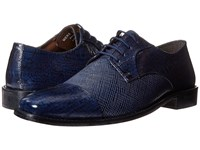 Stacy Adams Gatto Leather Sole Cap Toe Oxford Dark Blue Men's Lace Up Cap Toe Shoes