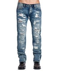 Cult Of Individuality Rebel Straight Jeans Blue