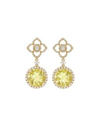 Aurora Lemon Quartz And Diamond Drop Earrings Kiki Mcdonough Yellow