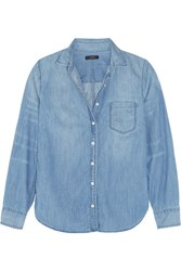J.Crew Cotton Chambray Shirt Light Blue