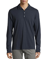 Ag Adriano Goldschmied Long Sleeve Funnel Neck Pullover Shirt Navy