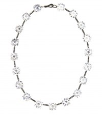 Bottega Veneta Oxidised Sterling Silver And Cubic Zirconia Necklace