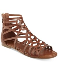 G By Guess Letsbe Flat Gladiator Sandals Women's Shoes Rio Maple