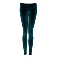 Yufash Embellished Knee Legging Dark Green