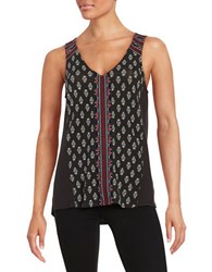 Sanctuary Embroidered Tank Black