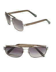 Fossil 60Mm Square Sunglasses Brown