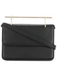 M2malletier Metallic Handle Shoulder Bag Black