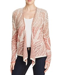 Nic Zoe Sunset Coral Ombre Jacquard Cardigan Multi