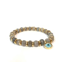 Eye Of The Sea Evil Eye Charm Bracelet Gray