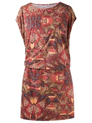 Lygia And Nanny Printed Tunic Dress Red