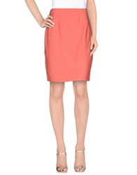 Byblos Skirts Knee Length Skirts Women Salmon Pink