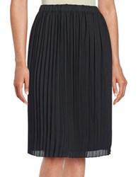 Lord And Taylor Pleated Crepe Skirt Black
