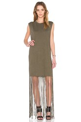 Nsf Kato Fringe Dress Army