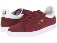 Fred Perry Sidespin Canvas Port White Men's Lace Up Casual Shoes Red
