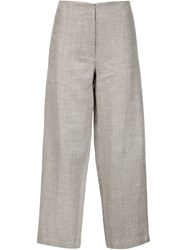 Adam By Adam Lippes Adam Lippes Cropped Trousers Nude And Neutrals