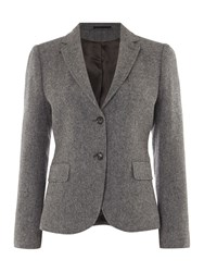 Gant Bid Eye Wool Blazer Dark Grey