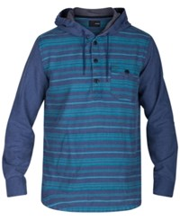 Hurley Men's Cardiff Stripe Pullover Hoodie Obsidian