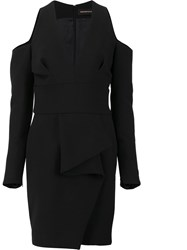 Alexandre Vauthier Deep V Neck Fitted Dress Black