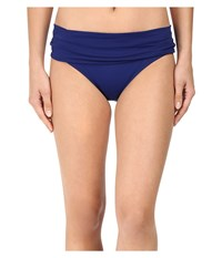 Lablanca Island Goddess Shirred Waist Hipster Bottom Midnight Women's Swimwear Navy