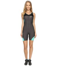 Louis Garneau Women Comp Suit Grey Green Women's Race Suits One Piece White