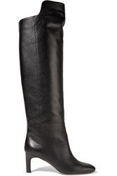 Bruno Magli Textured Leather Boots Black