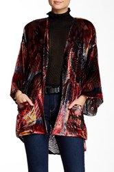 Daniel Rainn Printed Velvet Bed Jacket Multi