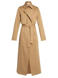 Raey Cotton Gabardine Trench Coat Tan