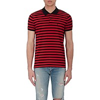 Saint Laurent Men's Striped Pique Polo Shirt No Color