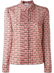 Red Valentino Heart Print Shirt Pink And Purple