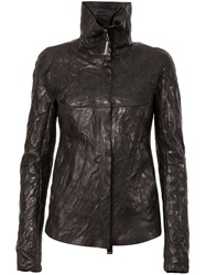 Isaac Sellam Experience Padded Leather Jacket Black
