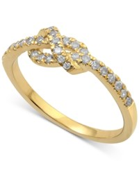 Macy's Diamond Knot Band 1 4 Ct. T.W. In 14K Rose Yellow Or White Gold Yellow Gold