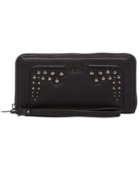 Guess Athina Large Zip Around Wallet Onyx