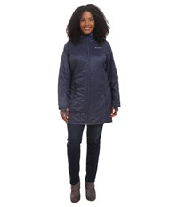 Columbia Plus Size Mighty Lite Hooded Jacket Nocturnal Women's Coat Black