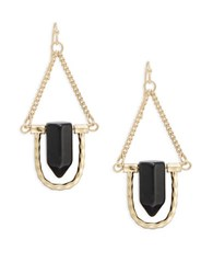 Robert Rose Stone Accented Drop Earrings