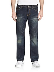 Affliction Ace Avenge Distressed Straight Leg Jeans Knoxville