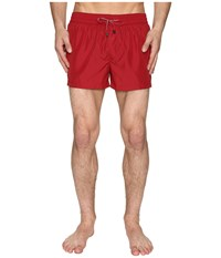 Dolce And Gabbana Solid Mid Cut Swim Shorts Red