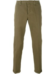 Dondup Straight Trousers Green